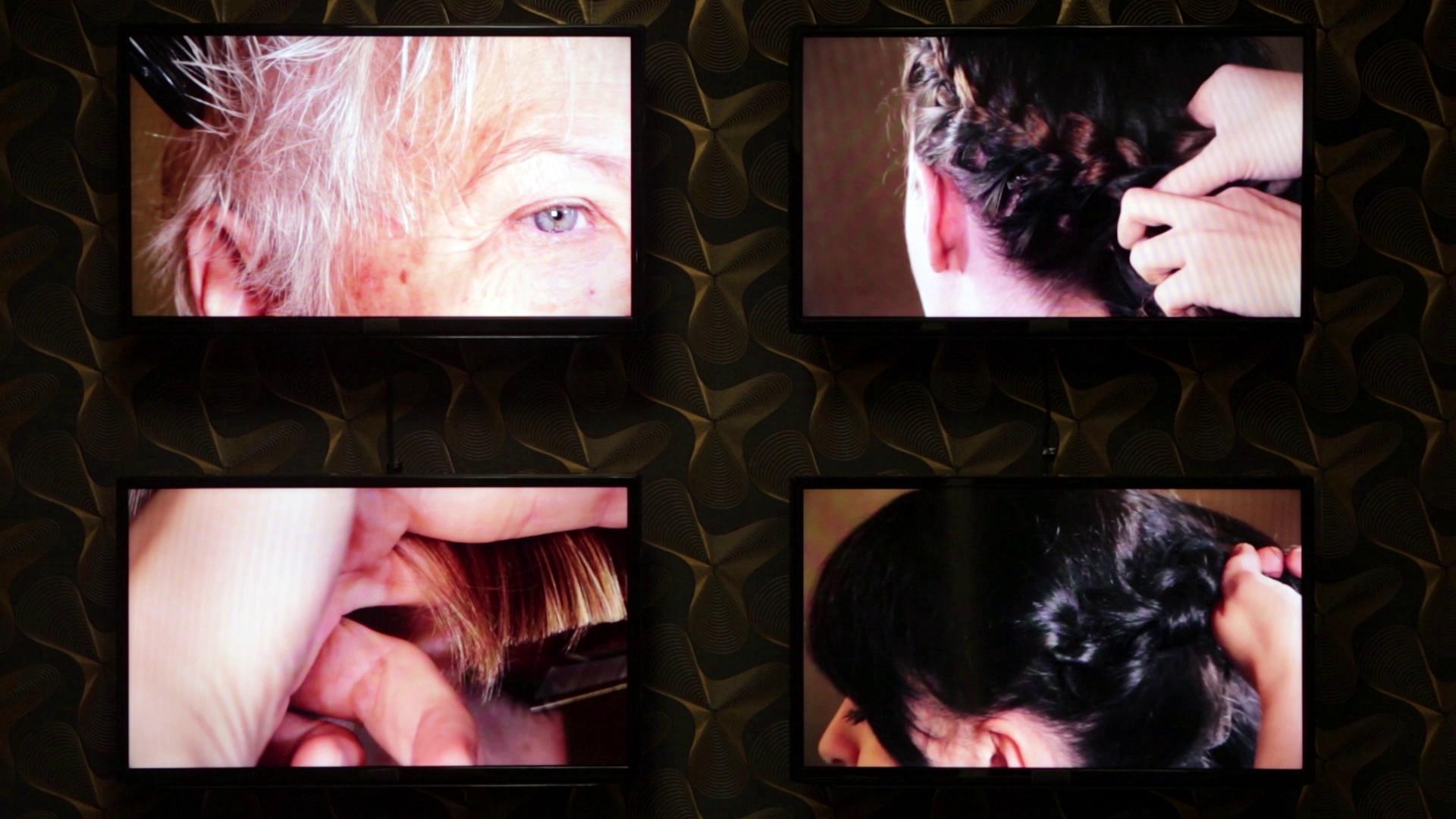 Friseursalon: Filmstill aus Video von Silke Schönfeld